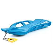 Schlitten Snow Train Kinderschlitten Zugseil Kunststoff blau für 2 Kinder