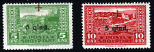 ALBANIA 1924 Red Cross Surcharges with Small Cross 5q. & 10q. SG 157 & 158 MINT