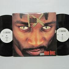 Nine – Nine Livez 2LP 1995 US ORIG Profile HIP HOP NAS 2PAC Notorious B.I.G.