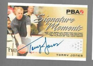 Tommy Jones PBA autograph card Rittenhouse Signature Moments