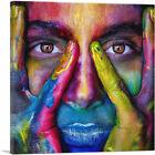 ARTCANVAS Colorful Face Mask Home Decor Canvas Art Print