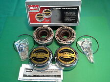 WARN PREMIUM MANUAL LOCKING HUBS 20990,FORD CHEVY,JEEP, dana 44 spicer 19 spline