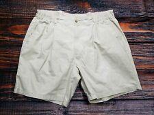 Bill Blass Mens Beige Shorts Pleated Size 42 Golf Casual Walking Shorts