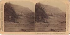 Martinique Eruption de la montagne Pelée 1902 Stereo Stereoview Vintage