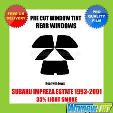 SUBARU IMPREZA ESTATE 1993-2001 35% LIGHT REAR PRE CUT WINDOW TINT
