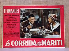 LA CORRIDA DEI MARITI fotobusta poster affiche Fernandel Nicole Berger E86
