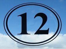 """Set di 3 7 """"X 8"""" Oval In Vinile Camera Decalcomania Bin Adesivo Finestra numeri lettere"""