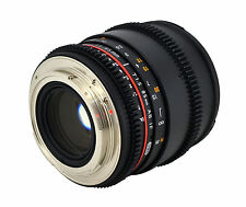 NEW LATEST SAMYANG 85mm F1.5 t Cine TELEPHOTO Lens for DSLR CAMERAS with CASE