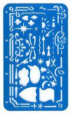 ARTIST GRAPHICS SPEECH BUBBLE, SHIELD, CLOUD & BORDER STENCIL TEMPLATE GUIDE m/b