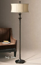 "MID CENTURY MODERN INSPIRED XXL 70"" OIL RUBBED BRONZE FLOOR LAMP UTTERMOST"