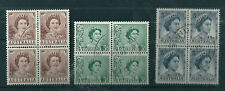 1959 2d, 3d & 5d Queens coil blocks of 4 cancelled to order. SUPERB & SCARCE!!