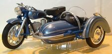 1:18 CLASSIC BMW R69S R69 COMBINATION OUTFIT SIDECAR MODEL STEIB VERY LTD BLUE