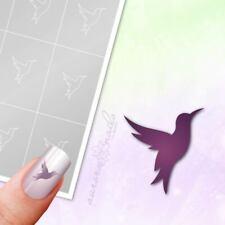 Schablonen für Airbrush und Nailart M511 Tier Kolibri Vogel Herbst Frühling 80x