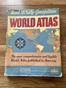 Rand McNally-Cosmopolitan World Atlas 1957 Centennial Edition w/ Dust Jacket