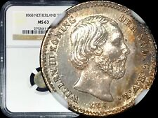 1868 Netherlands 5 Cents (Sword) - NGC MS63 - TOP POP None Finer 🥇