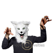 Mr Fox Mask Fur Realistic Animal Head Costume Halloween Disguise Plush Soft Hair