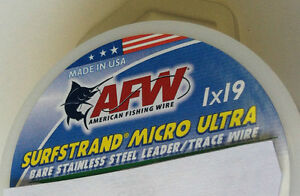 61 LB, 1x19 AFW SURFSTRAND MICRO ULTRA 19 STRAND -STAINLESS STEEL WIRE