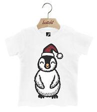 batch1 Lindo Navidad Pingüino Festivo Regalo Broches Cuello Camiseta para bebé