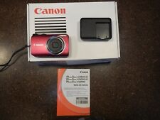 Canon PowerShot A3300 IS 16.0MP Digital Camera - Red rarely used