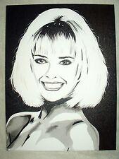 Canvas Painting Model Joanne Jo Guest A B&W Art 16x12 inch Acrylic