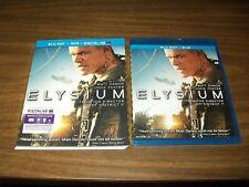 ELYSIUM BLURAY & DVD + DIGITAL COPY WITH SLIPCOVER MATT DAMON JODIE FOSTER