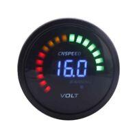 2 inch 52mm 12V Digital Voltmeter car Metro 20 LED black 7.5-20V volt car meter