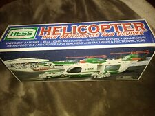 Vintage - 2001 HESS TOY TRUCK HELICOPTER WITH MOTORCYCLE AND CRUISER VG, Tested