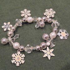 Snowflake Bracelet, Elastic Band