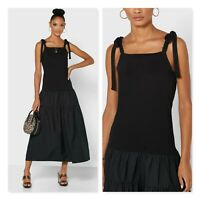 TOPSHOP | Womens Pleated Tiered Hem Dress NEW + TAGS [ Size AU 10 or US 6 ]