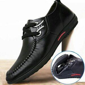 Men Dress Shoes Leather Shoes Men's Business Casual Dress Men's Flat Shoes