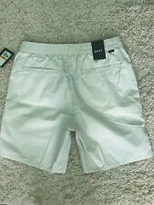 NWT Men's DKNY Casual Zip Side Pockets Cotton Ivory Shorts Small s