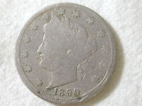 1890 U.S. 5 Cent Liberty Nickel Good Condition