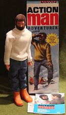 vintage action man 40th anniversary flocked hair adventurer hard hands  boxed
