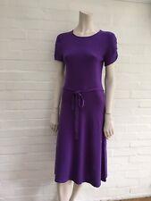 LAUREN Ralph Lauren Purple Cashmere & Silk Knit Sweater Dress M Medium