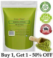 2lb / 32 oz Moringa oleifera Leaf Powder 100% Pure Natural Superfood Vegan lot