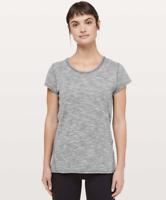 Lululemon Another Mile Short Sleeve Top Shirt Tiger Space Dye Alpine White Dark