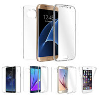 Transparent TPU Full Body Cover Case Skin, for Samsung Galaxy S6 Edge Plus M2D3