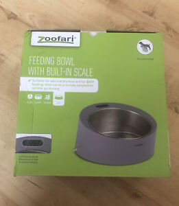 Zoofari PET FEEDING BOWL WITH BUILT-IN SCALE  2g-2kg Stainless Steel LCD Display