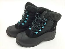 Northside Women's Winter Boots: FairmontII I Black/Light Blue I Size 7 (MMN20)
