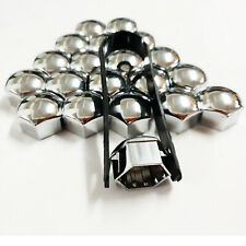 Chrome Wheel Bolt Nut Covers GEN2 19mm For Ford Kuga [Mk1] 08-12