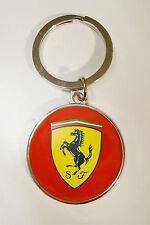Genuine Ferrari Round Metal Scuderia Red Keychain / Key Chain