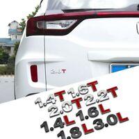 Alloy Auto Emissions Car Sticker Badge Tailgate Emblem 1.4L 1.5L 1.8L 2.0T 3.0T