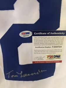 Tommy Lasorda Signed Los Angeles Dodgers JERSEY#2 PSA/DNA w/ COA Autograph