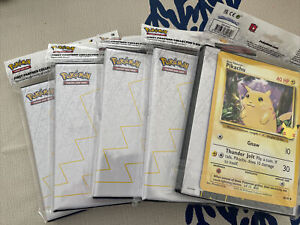 Pokemon 25th Anniversary First Partner Collector Binder Jumbo Pikachu IN HAND UK