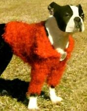 Doggiduds Dog Sweater Medium Red Shaggy Shrug Eyelash Yarn Faux Jewel Pet Puppy