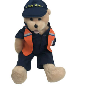 US Coast Guard Musical Teddy Bear Semper Paratus Military 13 Inches