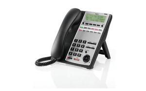 NEW NEC SL1100 12-Button Full-Duplex Backlit Display Telephone (Black) (1100061)
