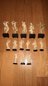 lot 14 figurines ASIE ASIATIQUES damoy café maurice MIR années 70 publicitaire