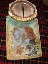 The Brearley Co. Vintage  Green Art Deco Bathroom Scale Bubble Glass WORKS RARE
