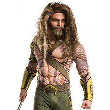 Aquaman Costume Wig and Beard Adult Batman v Superman Halloween Fancy Dress